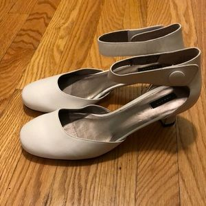 Array White Dress Shoes With Ankle Strap